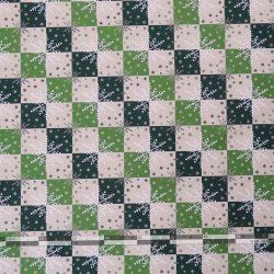 Hópelyhes dekorvászon zöld 07125-02