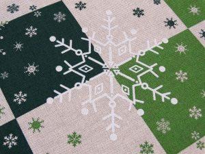 Hópelyhes dekorvászon zöld 07125-02 zoom zoom