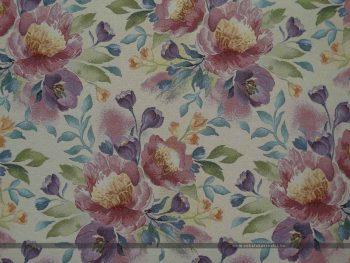 Flower fehér bútorszövet 100