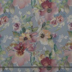 Flower szürke bútorszövet virágos mintával 100