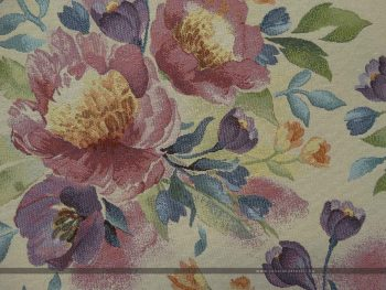 Flower fehér bútorszövet zoom