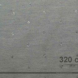 Punt dekorvászon lurex ezüst 320 cm széles