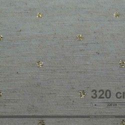 Punt dekorvászon lurex ezüst közeli 320 cm széles