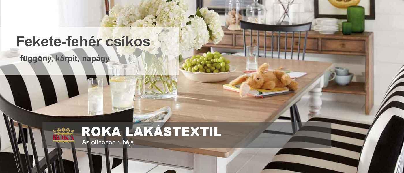 fekete-fehér csíkos stílus étkező nyitókép