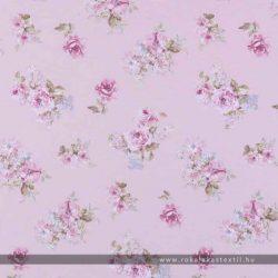 Rózsás dekorvászon rózsaszín
