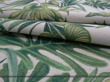 Davalia bútorszövet zöld pálmaleves hajott v3