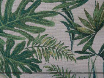 Davalia bútorszövet zöld pálmaleves zoom