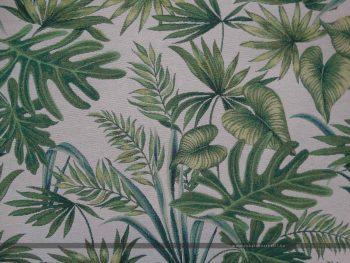 Davalia bútorszövet zöld pálmaleves zoom 2
