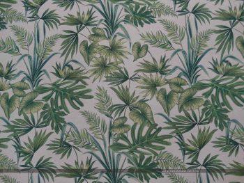Davalia bútorszövet zöld pálmaleves 100