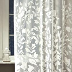 Aletta fényáteresztő függöny fehér 300 cm magas.