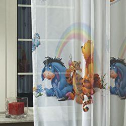 Gyerek függöny fényáteresztő Micimackó 205 cm magas