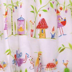 Gyerekfüggöny fényáteresztő magic garden 280 cm magas gyerek függöny