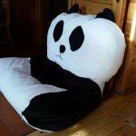 Panda babzsák fotel prisma anyagból