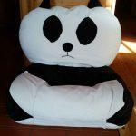Panda babzsák fotel prisma anyagból szemből