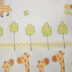 Gyerek függöny fényáteresztő zsiráfos 175 cm magas