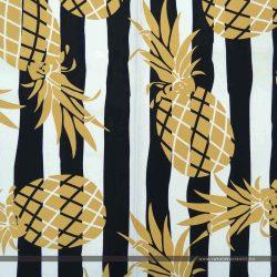Ananászos csíkos kültéri dekorvászon
