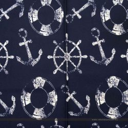 Kék kültéri dekorvászon vasmacskával