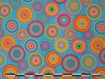 Mandala fesztivál kültéri dekorvászon 100