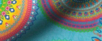 Mandala fesztivál kültéri dekorvászon live 1000x400