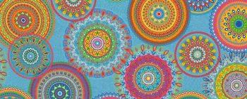 Mandala fesztivál kültéri dekorvászon 1000x400