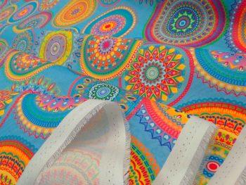 Mandala fesztivál kültéri dekorvászon hajtott