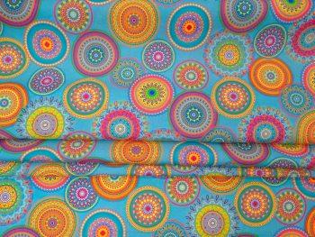 Mandala fesztivál kültéri dekorvászon redőzött