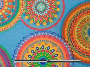 Mandala fesztivál kültéri dekorvászon zoom