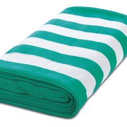 nyugágyvászon zöld-fehér csíkos tekercs
