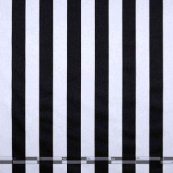 Fekete-fehér csíkos dekorvászon 100