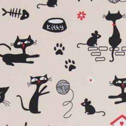 fekete macskás dekorvászon 1