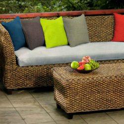 Garden kültéri kárpit vízlepergető dekorvászon rattan bútor