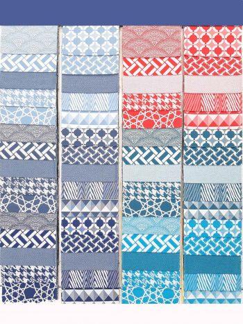 Piura kültéri bútorszövet mintasál 1 kékek