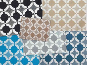 Valetta kültéri bútorszövet kollázs