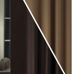 Kétoldalas blackout függöny csoki-mogyoró C07