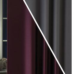 Pierrot blackout függöny burgundi-szürke C27