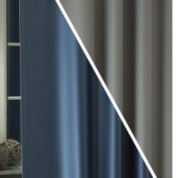 pierrot blackout függöny acélkék-világosszürke C43