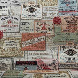 Bor címkék vintage bútorszövet címke