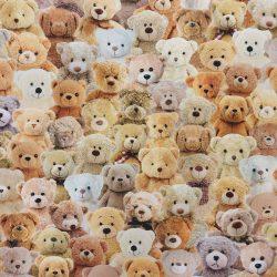 Teddy mackócsalád dekorvászon 100