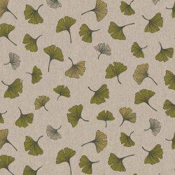 Zöld leveles dekorvászon ginkgo biloba levelekkel