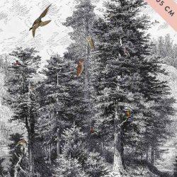 erdős panel dekorvászon mérettel a sarkában