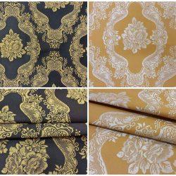 romina klasszikus bútorszövet sárga fekete